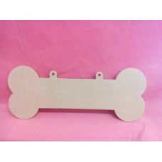 4mm  MDF Large Dog Bone with Hanging  loops